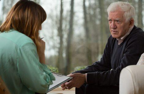 41852138 - image of young psychiatrist and her elder patient